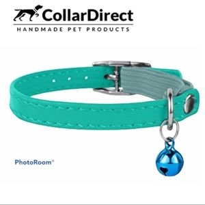Collar Direct Mint Green Leather Cat Collar